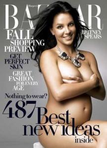 Britney Spears on cover of Harper's Bazaar