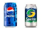 Pepsi and Sprite cans