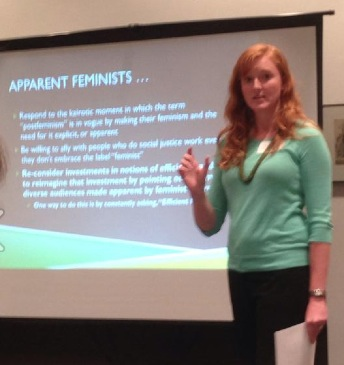 Photo of presentation on apparent feminism